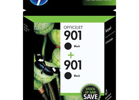 HP 901 2-pack Black Original Ink Cartridges, CZ075FN#140