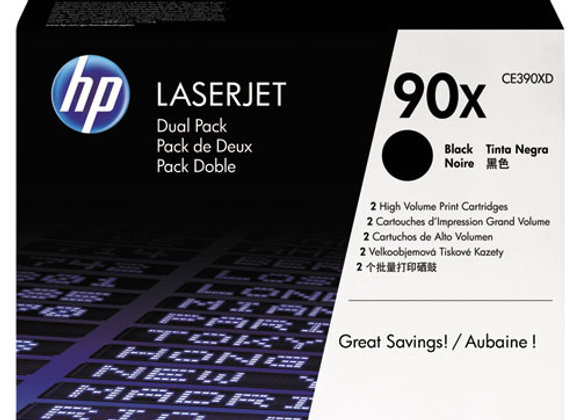 Product Image Small Slide 1 of 11  HP 90X 2-pack High Yield Black Original Laser