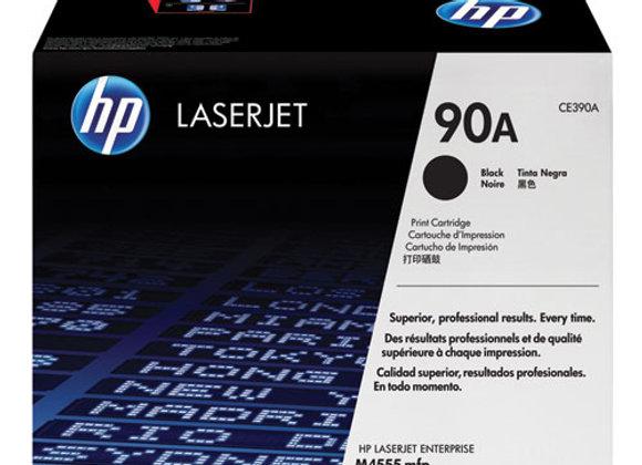 HP 90A Black Original LaserJet Toner Cartridge, CE390A