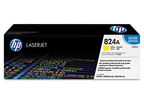 HP 824A Yellow Original LaserJet Toner Cartridge, CB382A