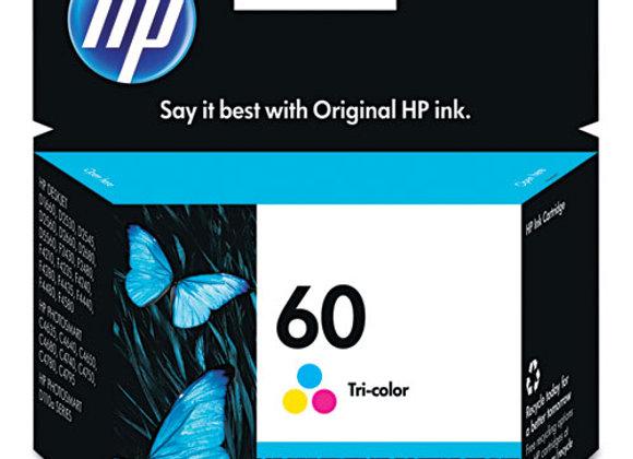 HP 60 Tri-color Original Ink Cartridge, CC643WN#140