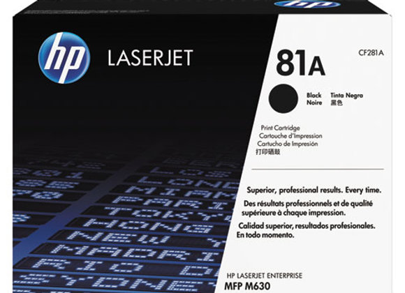 HP 81A Black Original LaserJet Toner Cartridge, CF281A