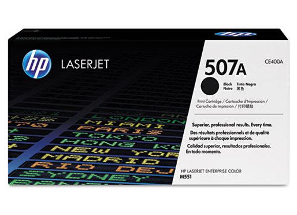 HP 507A Black Original LaserJet Toner Cartridge, CE400A