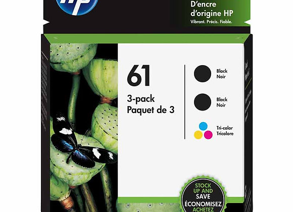 HP 61 Black/Color Ink Cartridge Combo 3-Pack (2-blk, 1-tricolor)