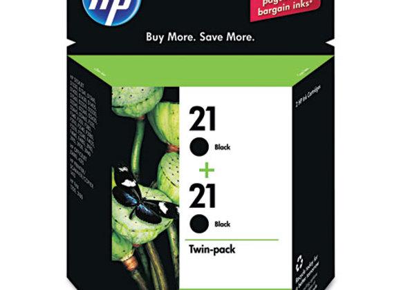 HP 21 2-pack Black Original Ink Cartridges, C9508FN#140