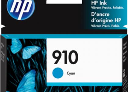 HP 910 Cyan 3YL58AN Genuine Ink Cartridge Standard Yield