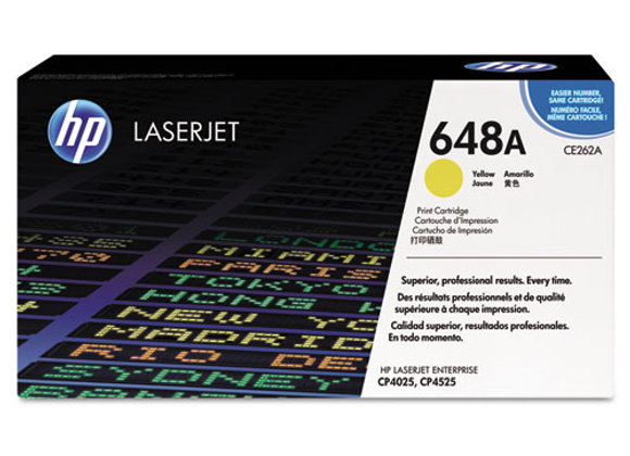 HP 648A Yellow Original LaserJet Toner Cartridge, CE262A