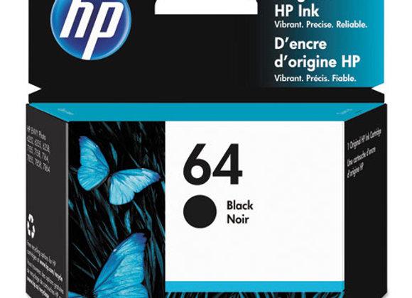 HP 64 Black Original Ink Cartridge