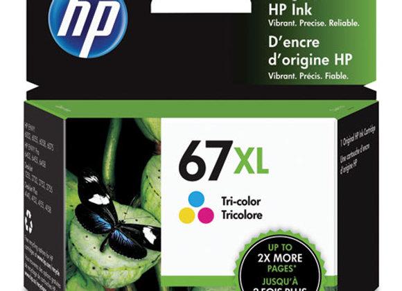 HP 67XL, (3YM58AN) High-Yield Tri-Color Original Ink Cartridge