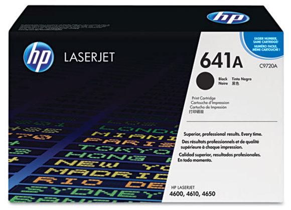 HP 641A, (C9720A) Black Original LaserJet Toner Cartridge