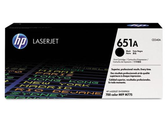 HP 651A Black Original LaserJet Toner Cartridge, CE340A