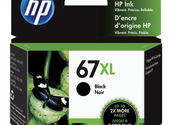 HP 67XL, (3YM57AN) High-Yield Black Original Ink Cartridge