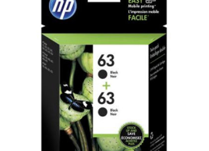 HP 63 T0A53AN Black 2-pack Original Inkjet Cartridges