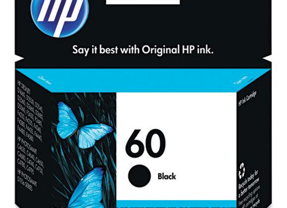 HP 60 Black Original Ink Cartridge, CC640WN#140