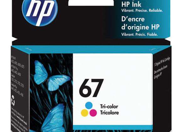 HP 67, (3YM55AN) Tri-Color Original Ink Cartridge