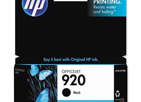 HP 920 Black Original Ink Cartridge, CD971AN#140