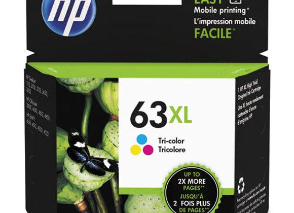 HP 63XL - High Yield - Tri-Color (CYM) - Original - Ink Cartridge (F6U63AN)