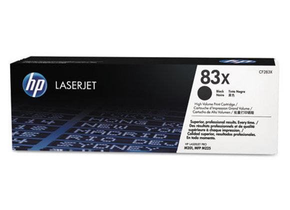 HP 83X High Yield Black Original LaserJet Toner Cartridge, CF283X
