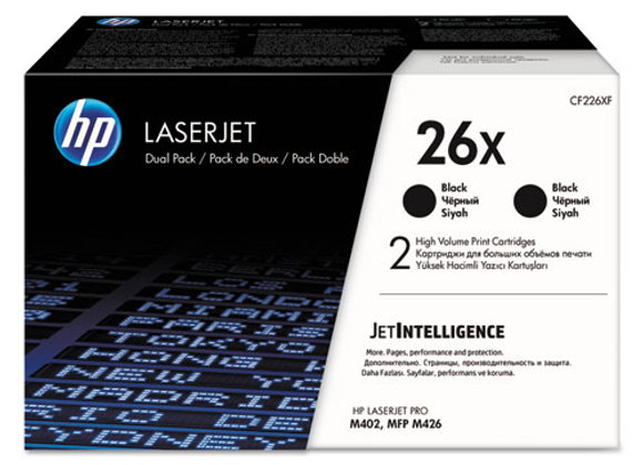 HP 26X - 2-Pack - High Yield - Black - Original - LaserJet - Toners (CF226XD)