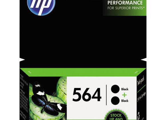HP 564, (C2P51FN) 2-Pack Black Original Ink Cartridges