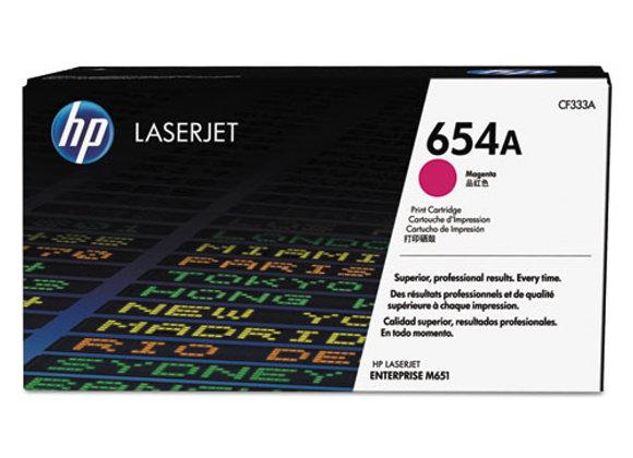 HP 654A Magenta Original LaserJet Toner Cartridge, CF333A