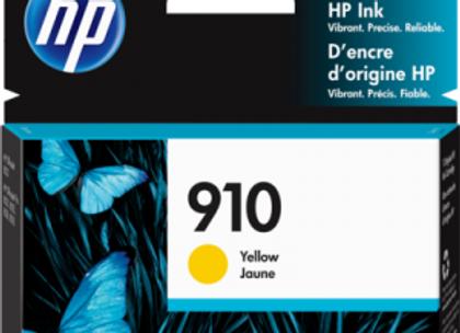 HP 910 Yellow 3YL60AN Genuine Ink Cartridge Standard Yield