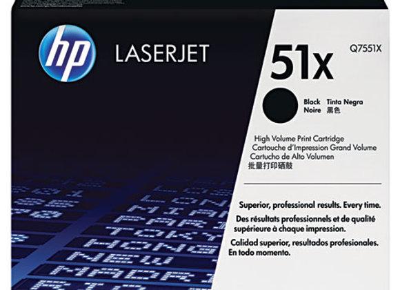 HP 51X High Yield Black Original LaserJet Toner Cartridge, Q7551X