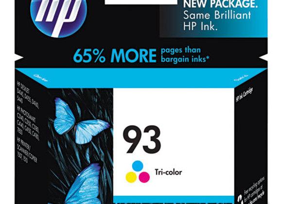 HP 93 Tri-color Original Ink Cartridge, C9361WN#140