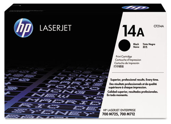 HP 14A Black Original LaserJet Toner Cartridge, CF214A