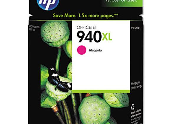 HP 940XL High Yield Magenta Original Ink Cartridge, C4908AN#140