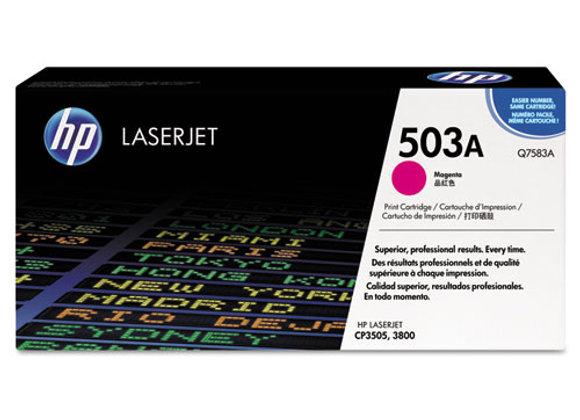HP 503A Magenta Original LaserJet Toner Cartridge, Q7583A