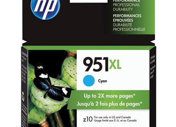 HP 951XL High Yield Cyan Original Ink Cartridge, CN046AN#140