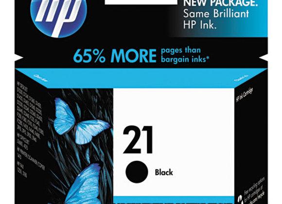 HP 21 Black Original Ink Cartridge, C9351AN#140