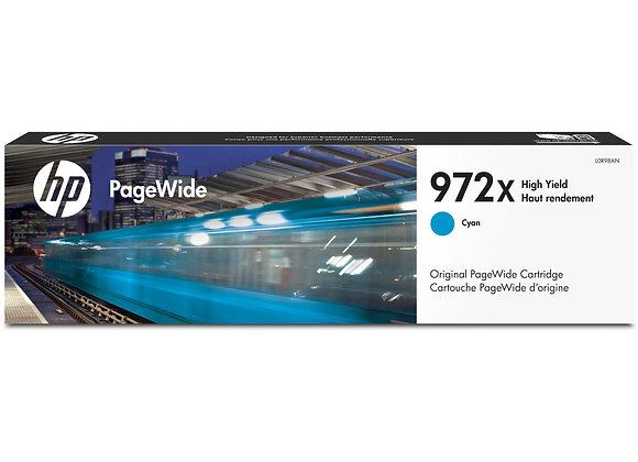 HP 972X High Yield Cyan Original PageWide Cartridge, L0R98AN