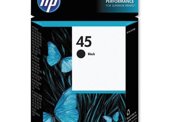 HP 45, (51645A) Black Original Ink Cartridge