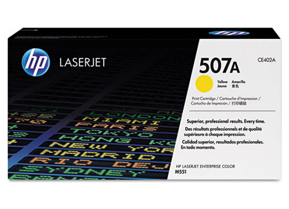 HP 507A Yellow Original LaserJet Toner Cartridge, CE402A