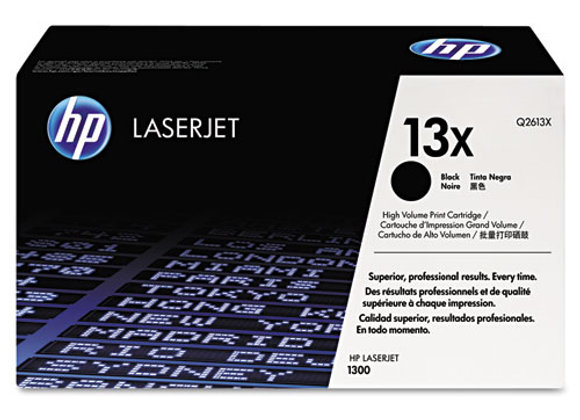 HP 13X High Yield Black Original LaserJet Toner Cartridge, Q2613X