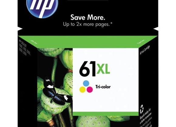 HP 61XL, (CH564WN) High-Yield Tri-Color Original Ink Cartridge