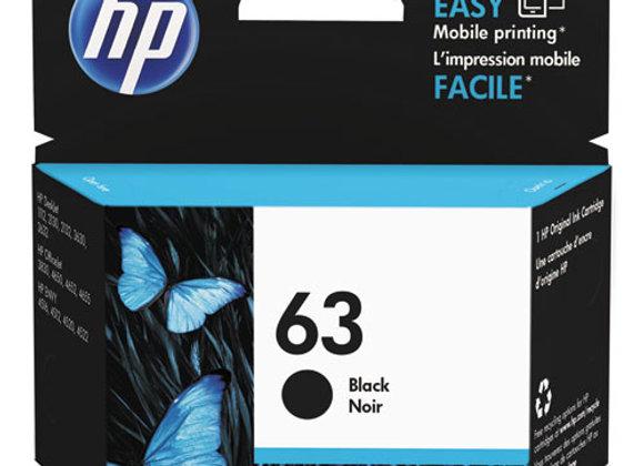HP 63 - Black - Original - Ink Cartridge (F6U62AN)