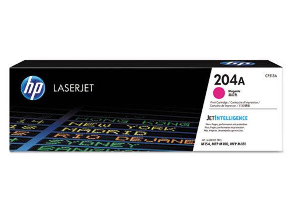 HP 204A Magenta Original LaserJet Toner Cartridge, CF513A