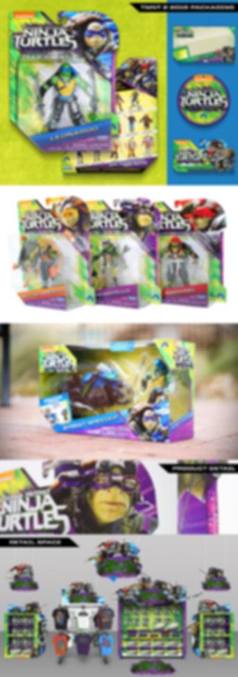 Ninja Turtels Packaging design