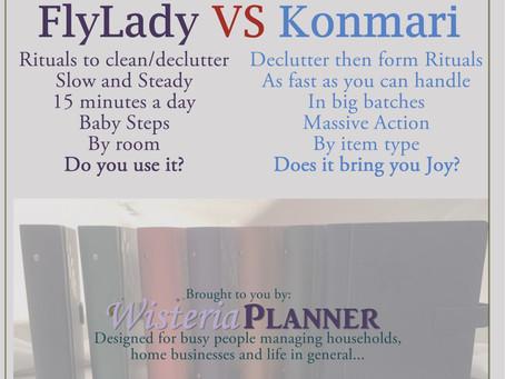 Decluttering – Flylady vs Konmari