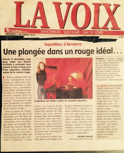 """Expo """"Dans un rouge ideal"""""""