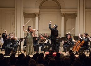 Soloist debut at Carnegie Hall with a NY première