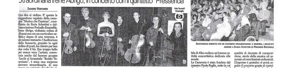 """A goddess on the violin"""
