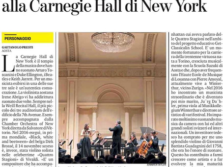 STANDING OVATION at the CARNEGIE HALL!