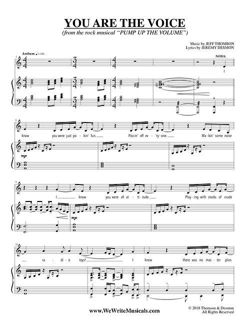 New Musical Theatre Sheet Music (Male Pop Ballad)