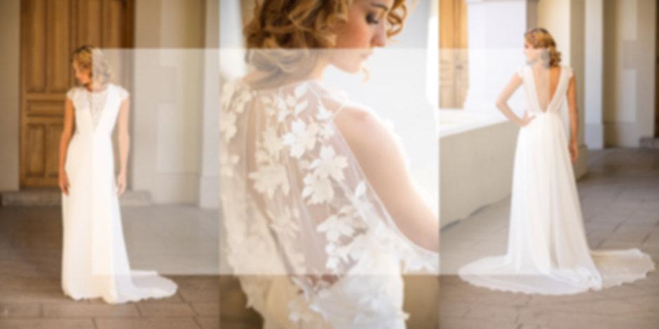 lolette ,robe de mariée fluide , robe de marée boheme , créatrice de robe de mariée , robe de mariee en dentelle , robe de mariée paca , robe de mariée gap, robe de mariée dos nu , robe de mariée coure , robe de mariée en dentelle courte ,