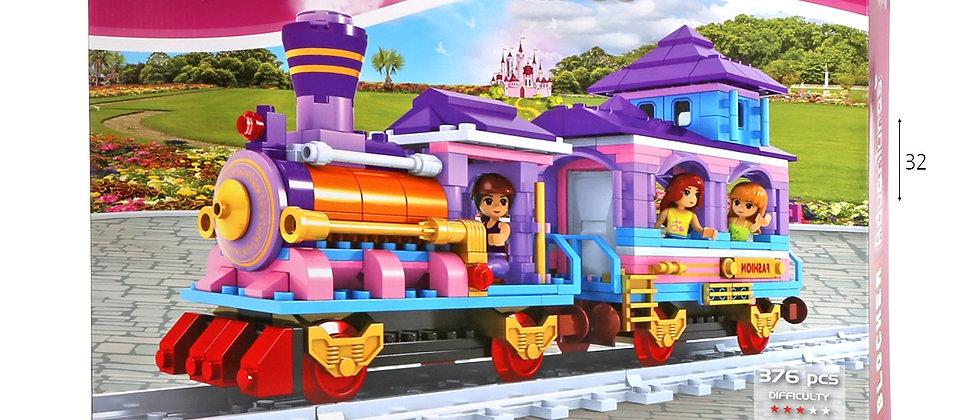 בלוקר משחק הרכבה רכבת 376 חלקים