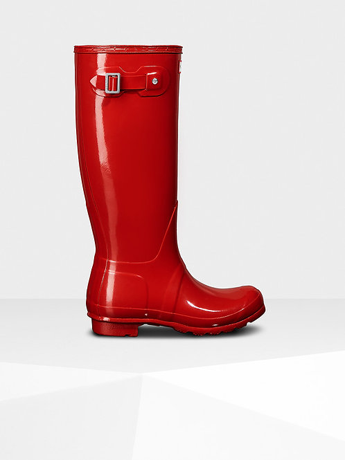 Botas Hunter original tall GLOSS red